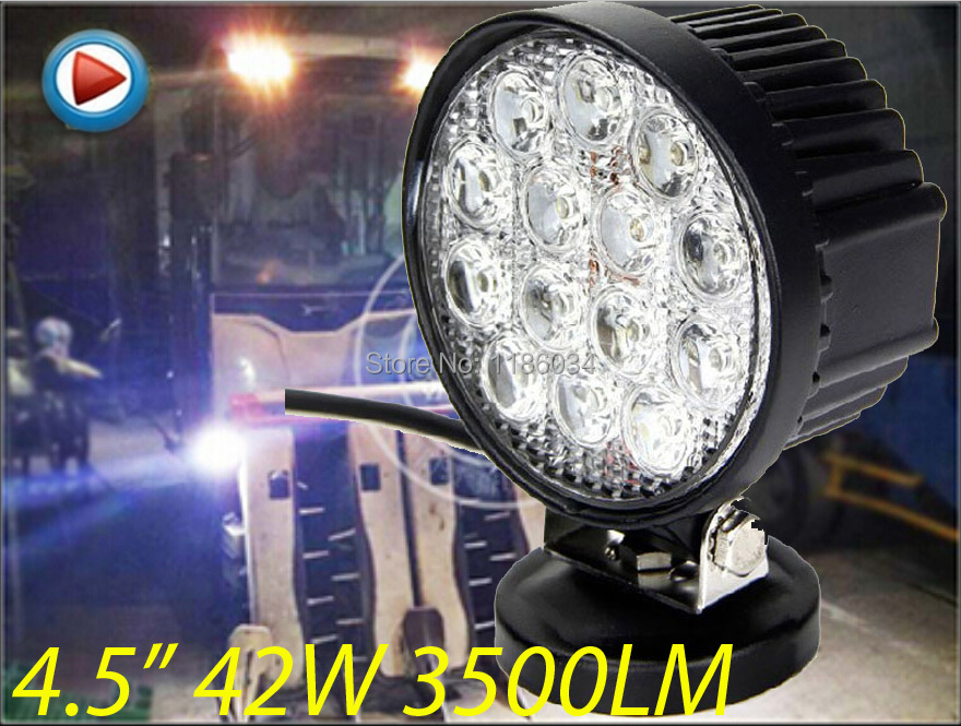 ФОТО Free ship!4.5inch 40W 10~30V LED working light,1pcs/set,Black color,3500LM,6500K,Boat,Bridge,Truck,Offroad car,Harvester