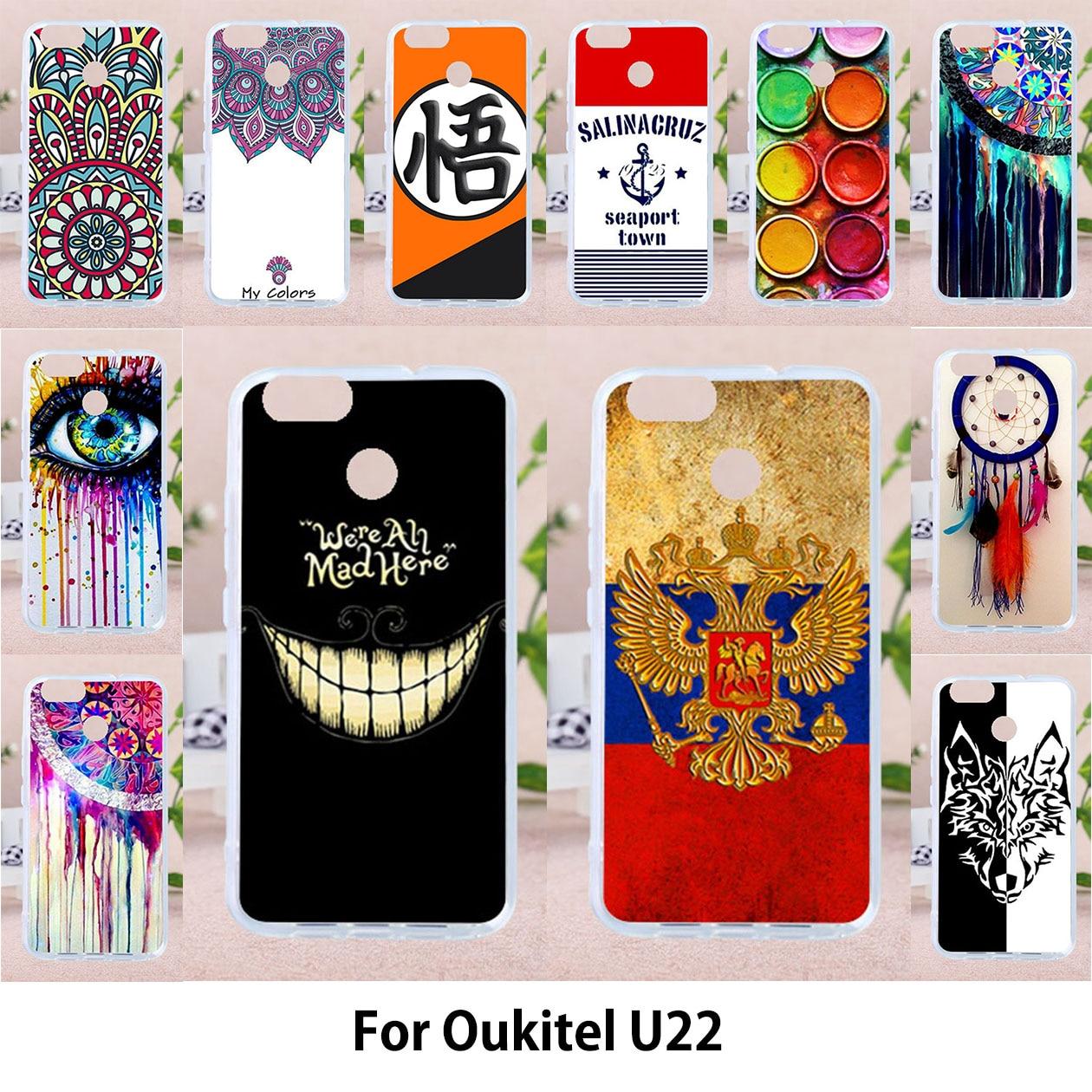 TAOYUNXI чехол для oukitel u22 силиконовый чехол роспись флаги большой улыбкой лицо чехол телефона щит капот 5,5 дюйма