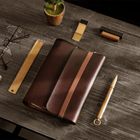 Genuine Leather A6 Plan Notebook Retro Business Office Supplies 6 Hole Loose Book Notepad School Supplies