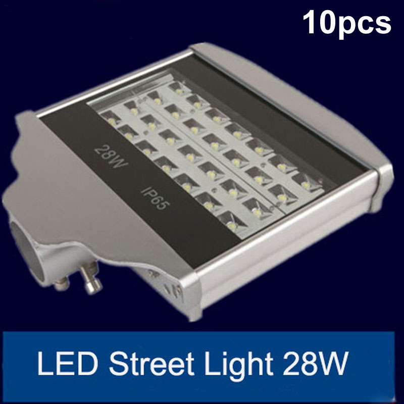 10pcs/lot 28w LED Street Light Waterproof 3 years Warranty LED Road lighitng lamps AC85-265V IP65 street lamp flood light 2pcs lot led road lamp 12v 24v ac85 265v 30w led street light ip65 bridgelux 130lm w led led street light 3 year warranty