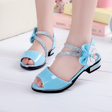 Summer Fashion Girls princess shoes baby sandals beautiful bowknot Sandal for girl white light blue pink