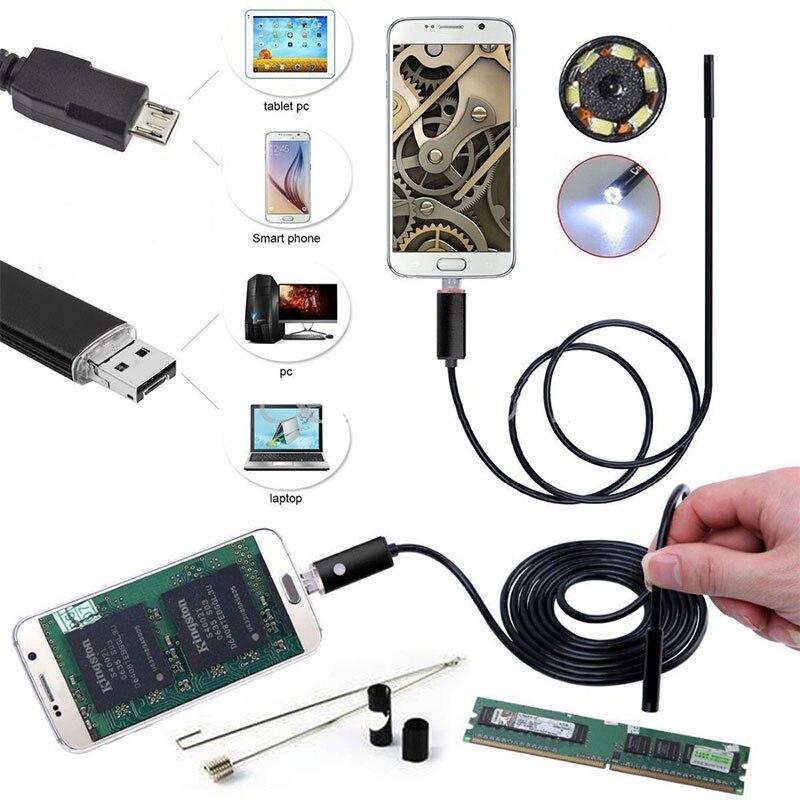 Energisch Tragbare Handheld Endoskop Ohr Löffel Endoskop Endoskop 7mm 2 In 1 Schwarz 6led Ohr Reinigung Werkzeug Überwachung Inspektion Fotos Produkte HeißEr Verkauf Endoskope