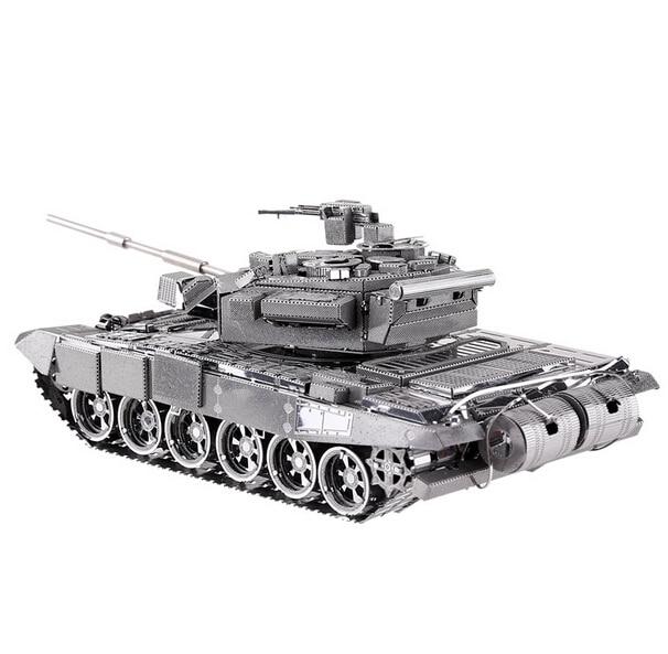 Бесплатная доставка металла работает DIY 3D лазерной металлические модели собрать миниатюрный металлический 3D модель металлик Nano T-90A MBT танк модели puzzle