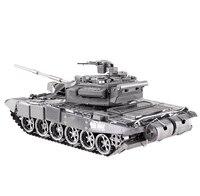Frete grátis Metal modelos Metal Works DIY Laser 3D montar miniatura de Metal modelo 3D Metallic Nano modelo de tanque MBT T-90A quebra-cabeça
