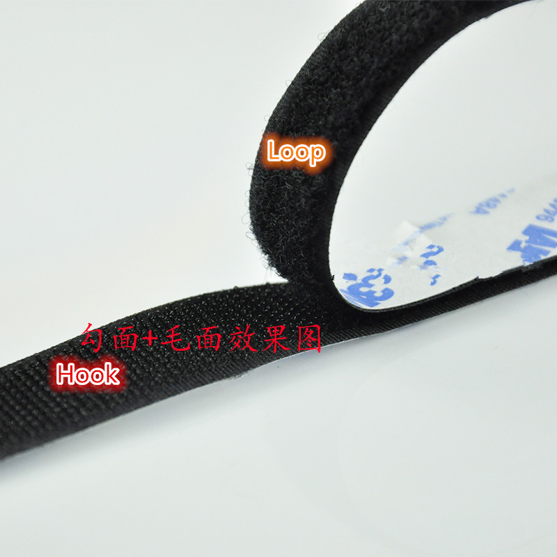 1PCS/LOT  YT1184  3M Adhesive  Magic Tape Strap  Hookloop Nylon Fastening Tape   Wide 2.5 cm  Length 100 cm  Cable Tie