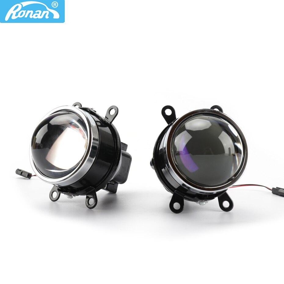 RONAN 3.0 Bixenon światła przeciwmgielne M6 wodoodporny obiektyw projektora hid H8 H9 H11 lampy niebieska powłoka szkło hd car styling modernizacja
