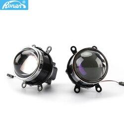 RONAN 3,0 Bixenon противотуманный светильник M6 водонепроницаемый HID объектив проектора H8 H9 H11 лампы с синим покрытием HD Стекло для автомобиля Стайл...