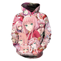 7e8720c9eefe6 SOSHIRL DARLING In The FRANK Hoodies Hipster Anime Zero Two Hoody Unisex  Pink Girls Face Tops