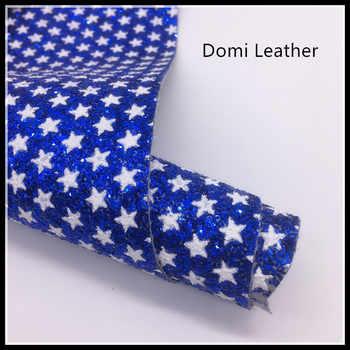 (DM6064) ดาว Chunky Glitter ผ้าสำหรับ Bows - SALE ITEM บ้านและสวน