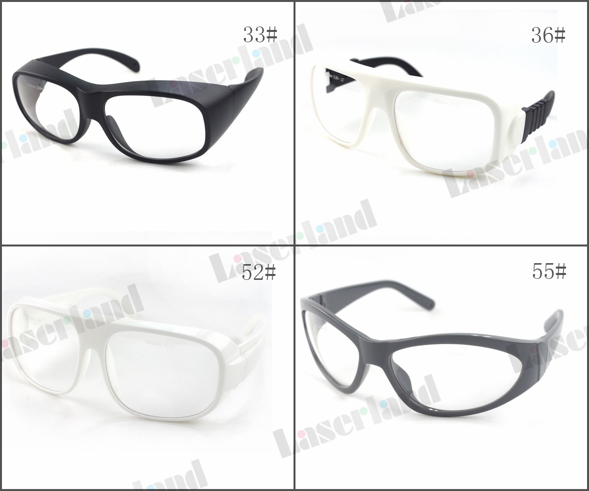 LP-CHP 10600nm OD6+ CO2 Laser Protective Goggles Safety Glasses CE laser eye protection double frame protection goggles glasses eyewear for co2 carbon dioxide laser 10600nm 10 6um