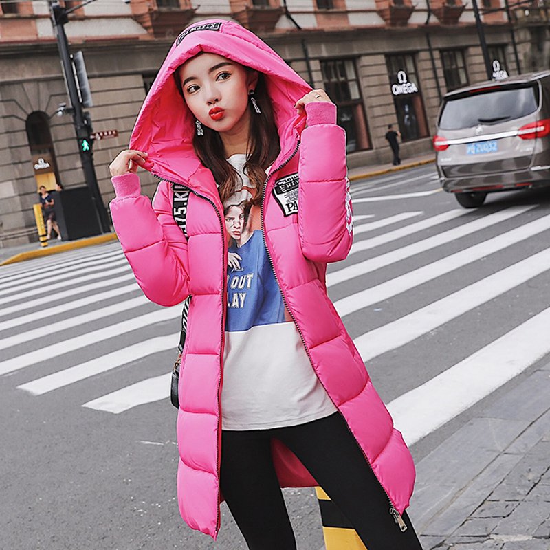 2019 Fashion Cotton-padded Jacket Hooded Warm  Winter Jacket Women Parkas For Girl