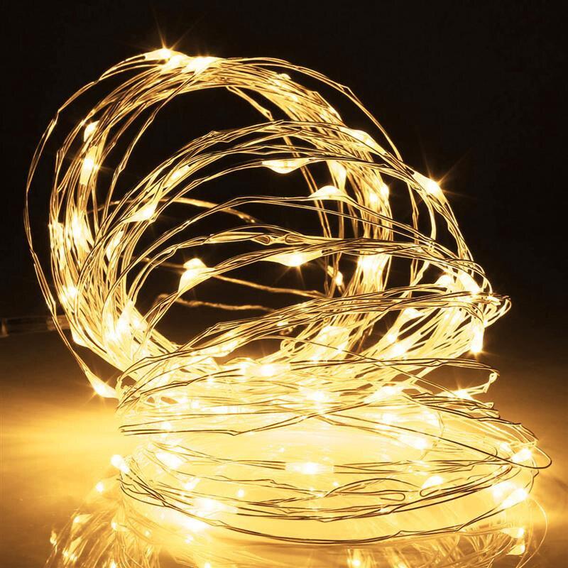 2 м 5 м 10 м 20/50/100 LED 3xAA Батарея Гирлянды светодиодные огни на Рождество гирлянды партии свадебные украшения Рождество мигалкой Фея огни