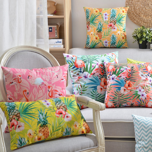Flower pillowcase decorative pillows case pink flamingo cushion flower pillowcase decorative pillows case pink flamingo cushion cover home decor throw pillow velvet cushion cover for sofa in cushion cover from home mightylinksfo