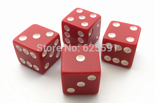10pcs/set T&G dice High Quality 14mm Red Dice Jugetes