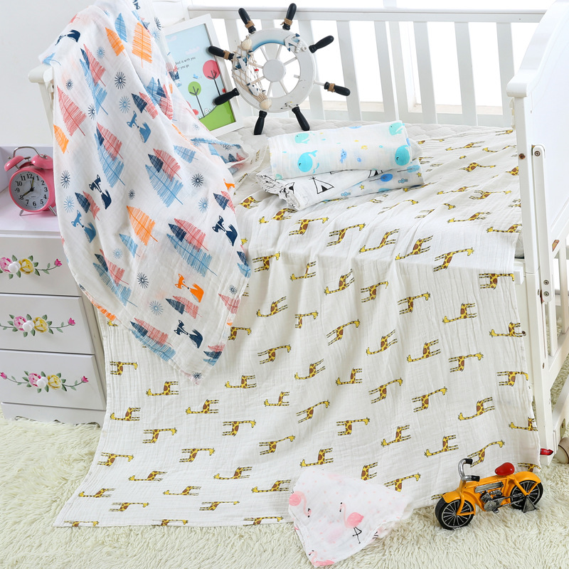 Baby Blankets  Wraps Cotton Bamboo 17 Colors Baby Blankets Newborn Bamboo Muslin Blankets 120x120cm Character Kids Blanket