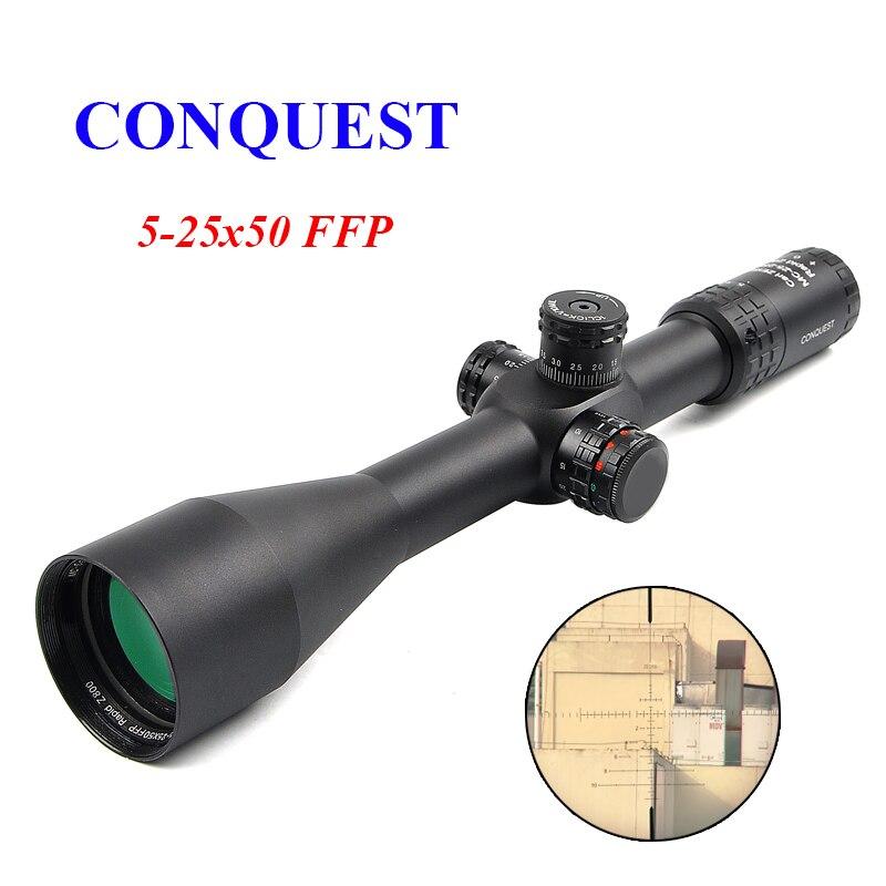 ZEISS Conquête 5-25x50 Z800 Rifle FFP Portée Side Parallax Tactique Optique Portée Sniper Portée de Chasse Scopes Fusil de Chasse