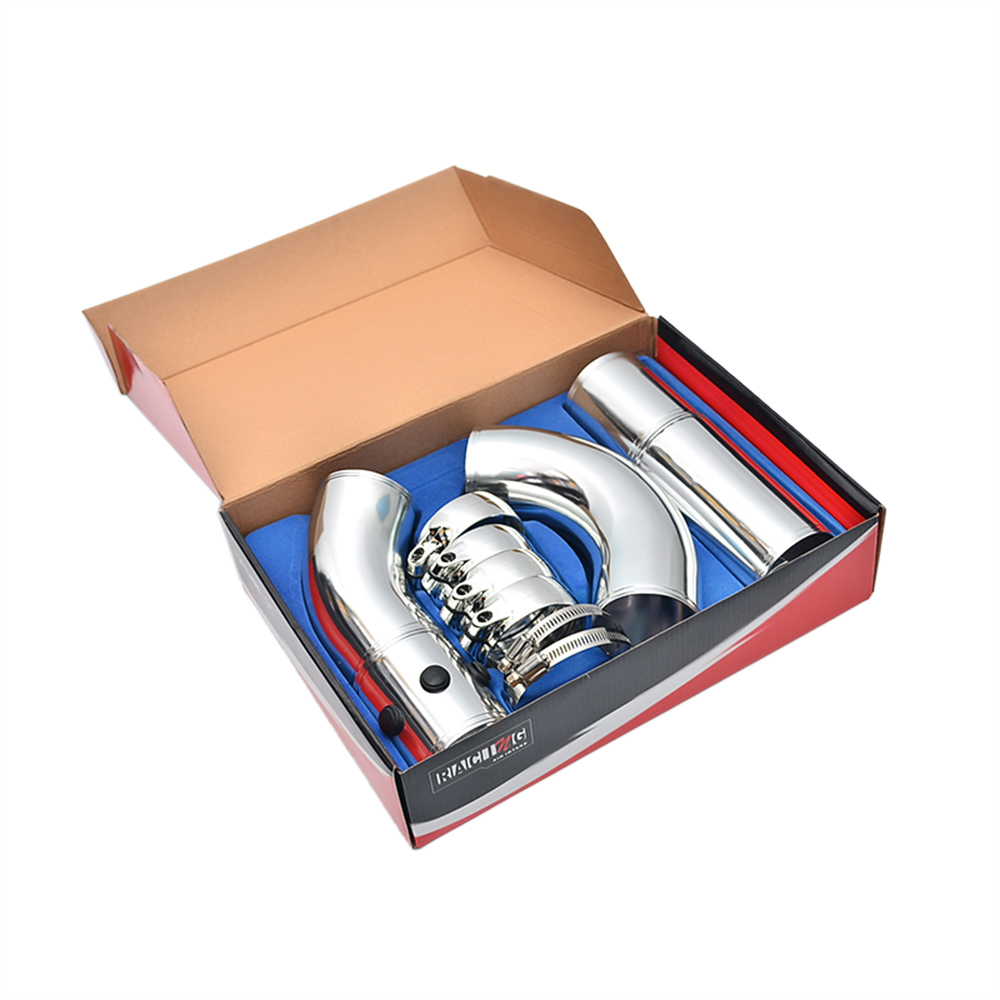 3 Air Intake Pipe Turbo Direct Cold Air Filter Injection System Aluminum Alloy Intake Pipe Pipe