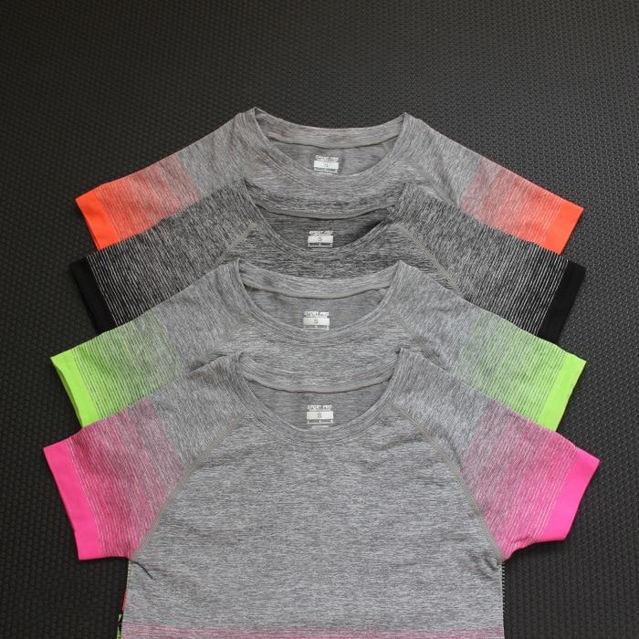 Gymnastik Frauen Sport Shirts Schnell Trockenlaufendes T-Shirt Ärmel - Sportbekleidung und Accessoires - Foto 5