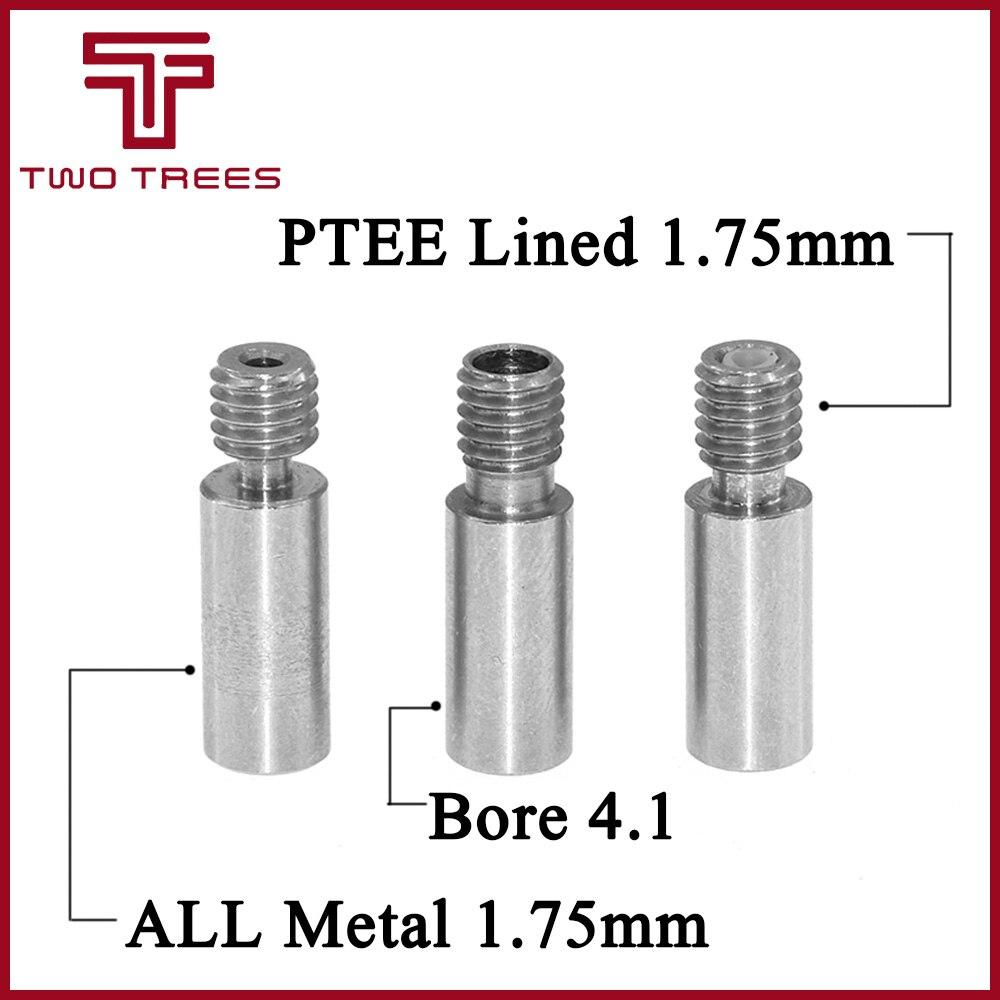 Us 1 39 15 Off 5pcs 3d Printer Chimera Extruder Heat Break V6 Dual Hotend J Head Throat Length 22mm 1 75mm 3 Mm Filament Reprap 3d Printer Part In