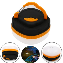 Mini Portable Camping Light powered by AA battery 3W LED Waterproof outdoor Hiking hanging Tent Nightlight Emergency lamp of SOS