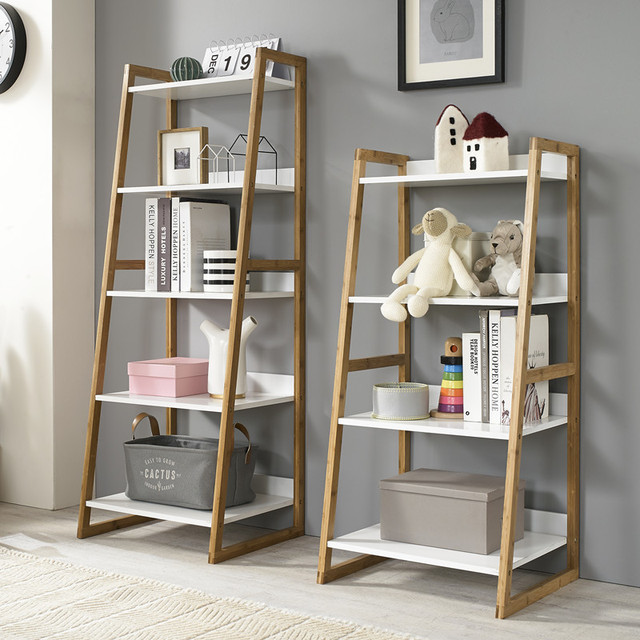 Louis Fashion Bookcases Solid Wood Shelf Living Room Landing Bedroom Small Bookshelf European Style Simple And