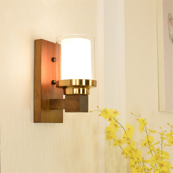 Nordic LED wall lamps solid wood bedroom reading learning wall lights Customer service study living room TV wall lighting decos