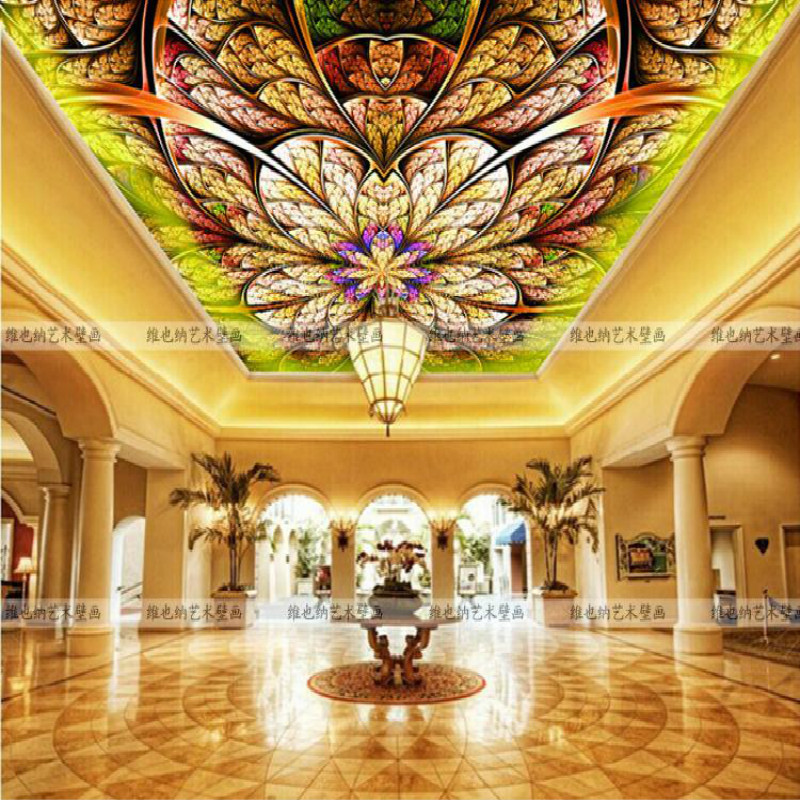 Custom Continental ceiling murals living room bedroom embossed 3D wallpaper 3D stereoscopic 3D wallpaper peacock feathers zenith зимняя шина continental contivikingcontact 6 225 55 r17 101t