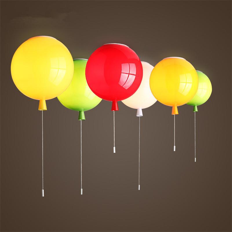 Красочный воздушный шар потолочные светильники детская светодио дный комната уютные светодиодные потолочные светильники блеск Luminaria ...