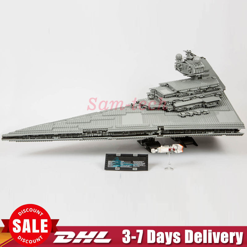 In Stock Lepin 05027 3250 Pcs Emperor Fighters Star Ship Model Wars Building Kit Block Bricks Toys Compatible 10030 Boy Gift