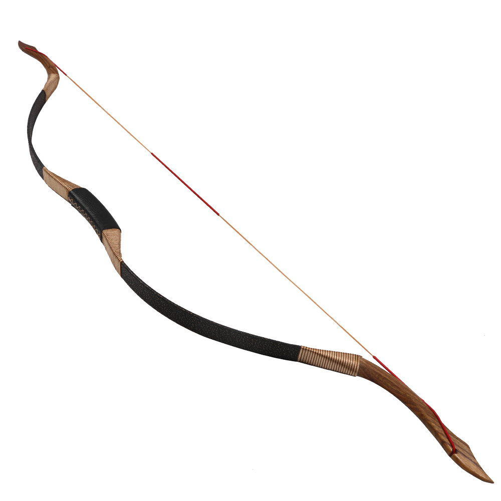 Archery hunting wood recurve bow 53inch 30-50lbs bow and arrow shooting arch