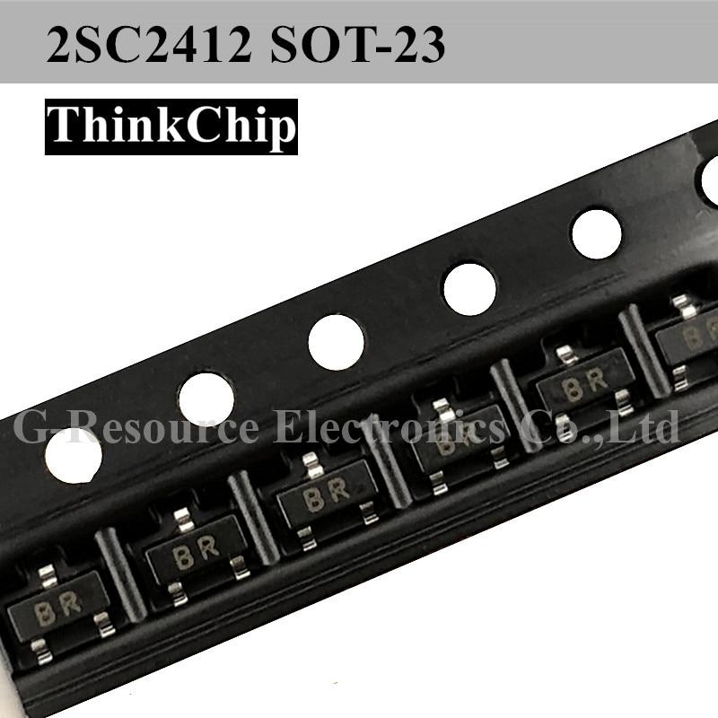Free Shipping 100pcs/lot 2SC2412 SOT-23 SMD Crystal Triode TRANSISTOR NPN (Marking BR)