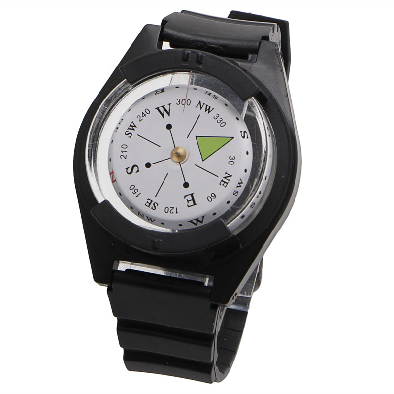 Tactical Wrist Compass Special For Military Outdoor Survival Watch Black Band
