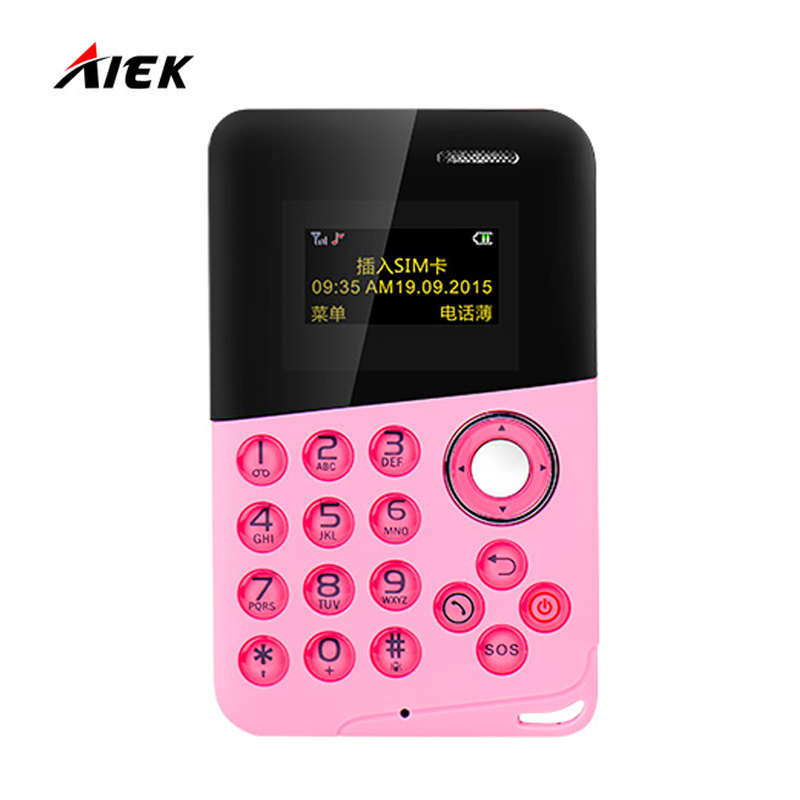 Newest Mini Card Phone AIEK AEKU M8 Low Radiation Bluetooth Message Color Screen Childrens Pocket Cell