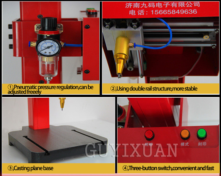 JMB-170 Pneumatic Dot Peen Marking Machine With USB Cable For Various Frame