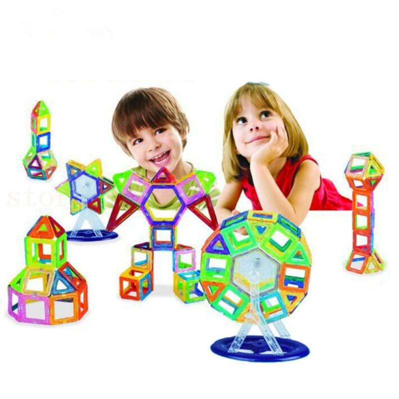 ФОТО DIY Magnetic Blocks magnet 46PCS Magnetic Creative building Blocks construction toys for Children Magnetic Building Blocks toys