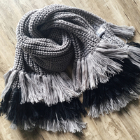 2016 New Brand Winter Scarves Women Long Woolen Scarf Shawl Pashmina Kintted Double Tassel Poncho Cape