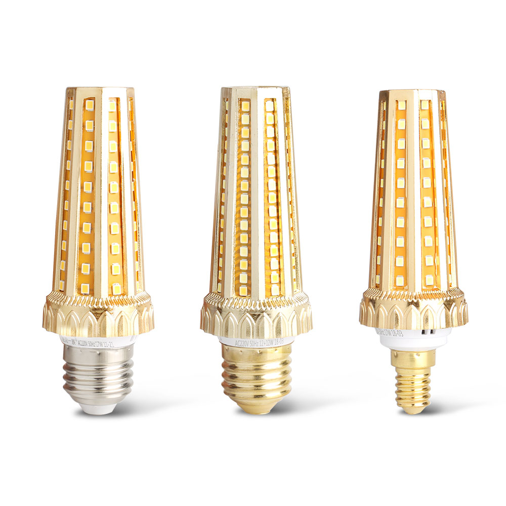 Tanbaby AC85~265V SMD 2835 LED Lamp E27 E14 LED Bulb Corn Bulb 68 128LEDs Chandelier Candle LED Light Home Decoration For Foyer best price home halloween decor 2835 smd 99 led lamp bulb e27 b22 6w three modes 1300k 1800k yellow flame led light bulb 85 265v