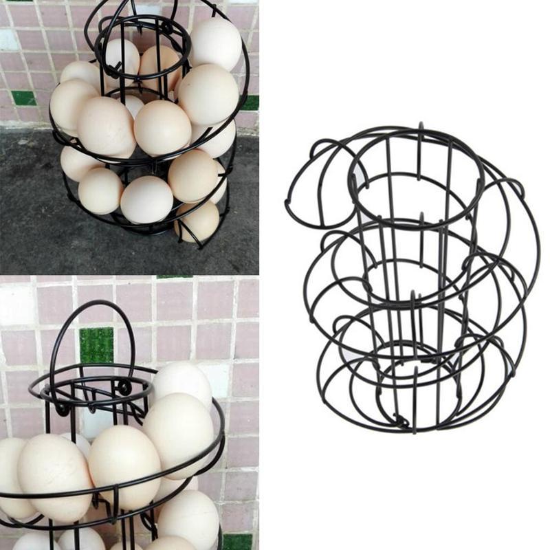 Accessories:  Modern Spiraling Design Egg Rack Eggs Storage Shelf Popular Home Kitchen Storage Accessories - Martin's & Co