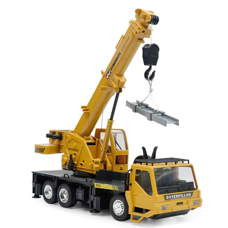 Terbaru 1:24 8CH Simulasi Derek Excavator Remote Kontrol Nirkabel Teknik Pencahayaan Truk Dikenakan Biaya Kendaraan RC Mobil Mainan