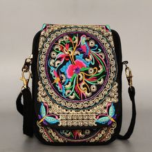 2018 Vintage Chinese National Style Women Bag Ethnic Shoulder Bag Embroidery Boho Hippie Tassel Tote Messenger
