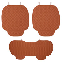 3pcs Sets Non Slip Leather Car Seat Covers 2X Front Seat Cushion Seat Cover 1pcs Backseat