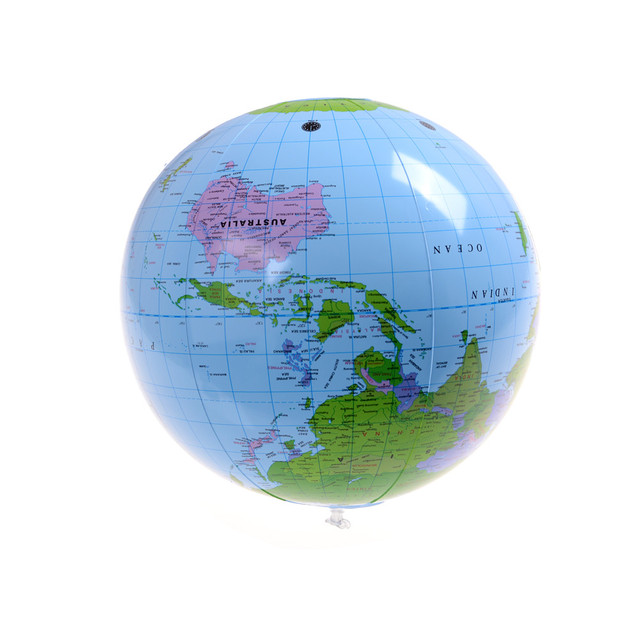 Great 1pcs new funny 40cm beach ball early educational inflatable great 1pcs new funny 40cm beach ball early educational inflatable earth world geography globe map balloon gumiabroncs Images