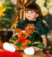 24/60 cm Bebes reborn menina Silicone Reborn Baby Toddler Princess Girl Dolls Toys for Children Girls Birthday Gift Dolls