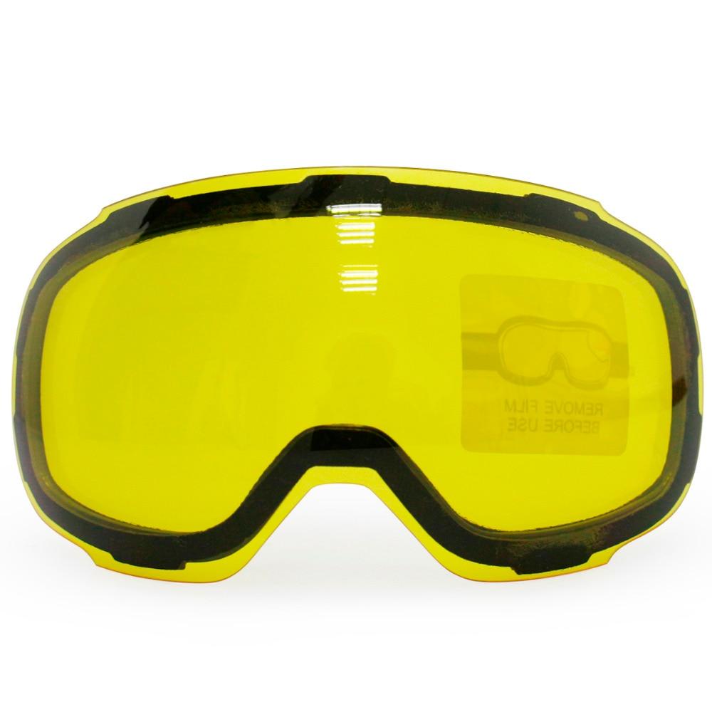 Оригинальный желтый украсила Магнитная объектив для лыжные очки gog-2181 Анти-Туман UV400 сферические лыжные очки снег очки ночного Лыжный Спорт