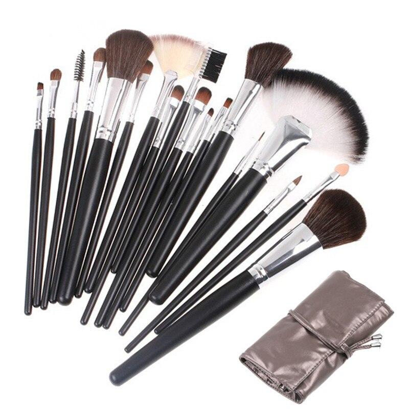 Professionele 18-delige make-up kwasten Set Poeder Foundation Blush - Make-up