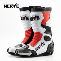 NERVE Motorcycle Waterproof Boots Protection Leather Men Women Motociclista Bota Moto Motocross Racing Shoes for Kawasaki Ducati