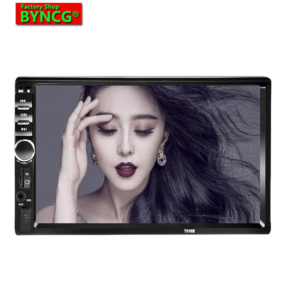 BYNCG 7018B voiture ardio 2 DIN 7 pouces Bluetooth Audio dans le tableau de bord écran tactile autoradio voiture Audio stéréo MP3 MP5 lecteur pour autoradio