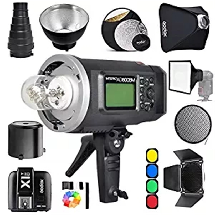 Godox AD600BM Bowens Mount 600Ws GN87 1/8000 HSS Outdoor Flash Strobe Monolight with X1C Wireless Trigger/ 32X32Softbox/ Stand