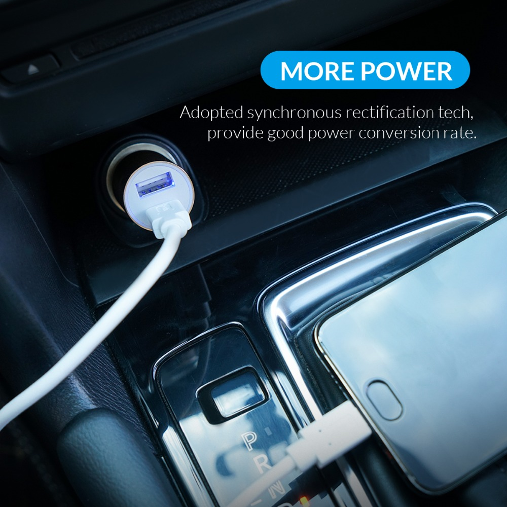 ORICO Dual Output Car Charging Type C Port + USB Charger Car Cigarette Lighter Charger Wide Voltage Mobile Phone Charger (9)