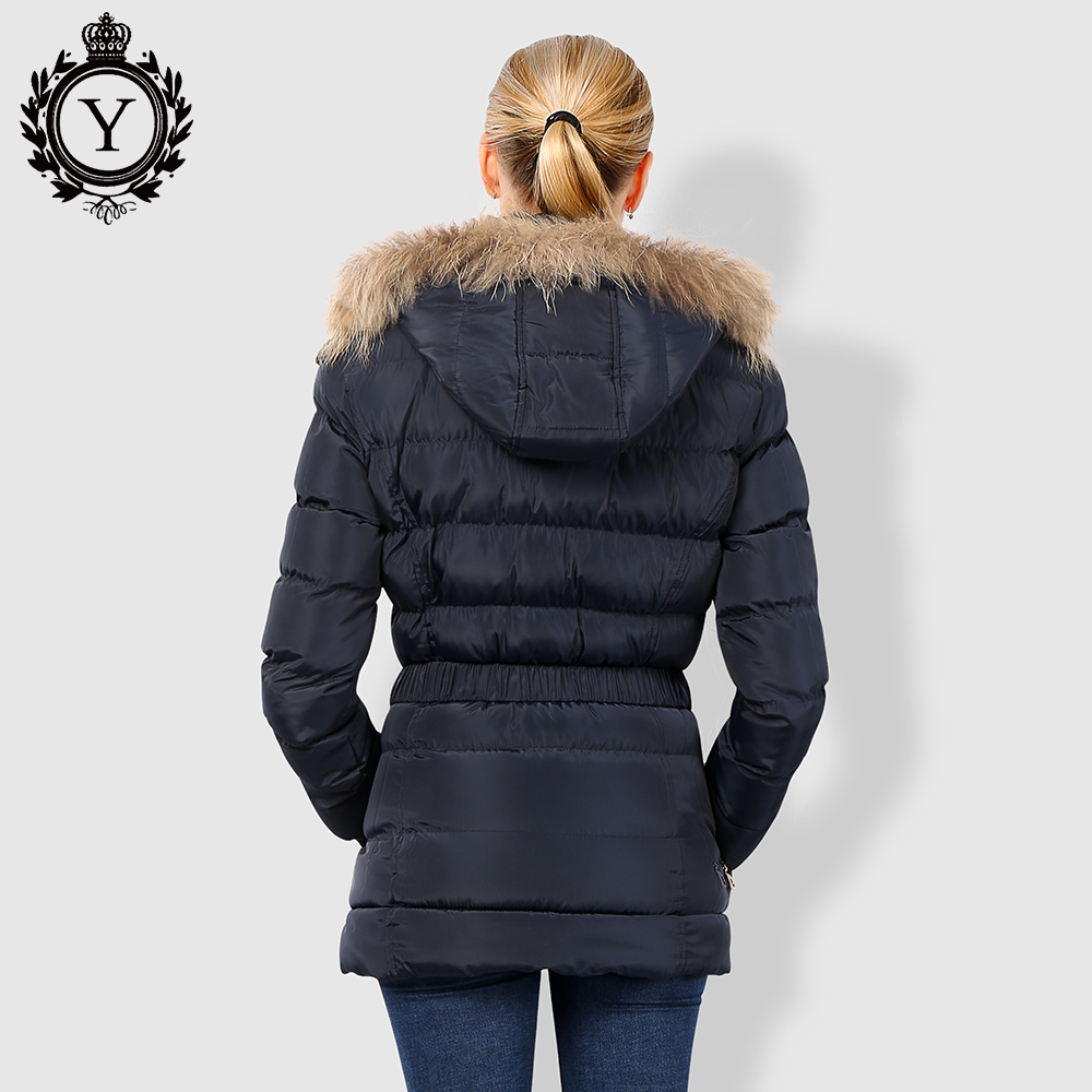 32e4491e32b92 COUTUDI Winter Jacket Women Thick Warm Slim Medium Long Winter Woman Coat  With Natural Fur Collar Hooded Female Cotton Parkas -in Parkas from Women s  ...
